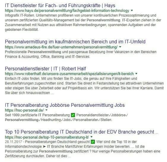 Ranking Personalberatung IT Top 15 Marktführer