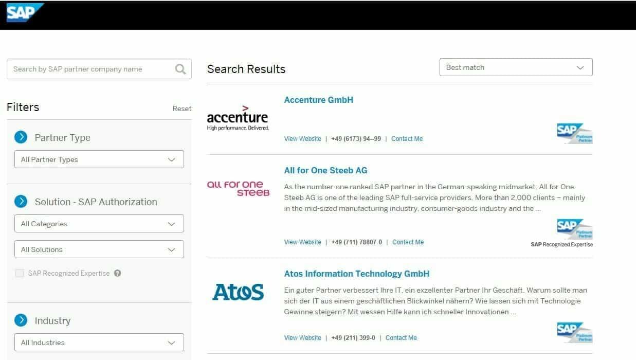 SAP zertifizierte Partner in deutschland