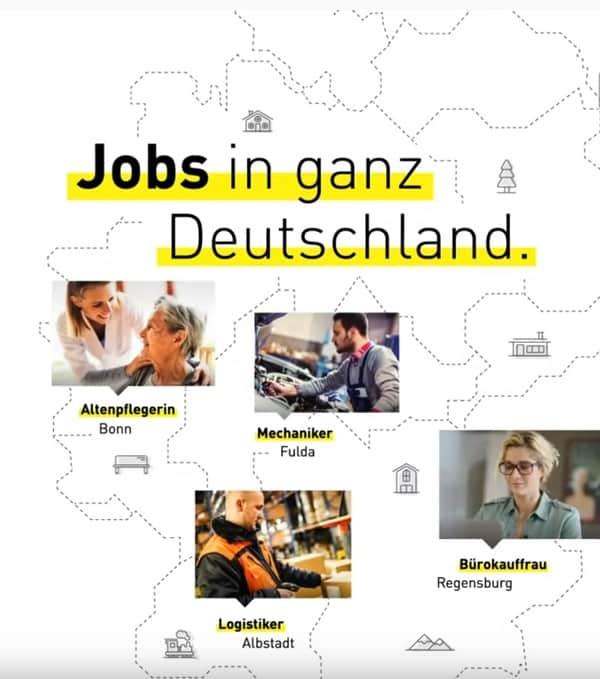 Gibt es Jobs in Meine Stadt de?